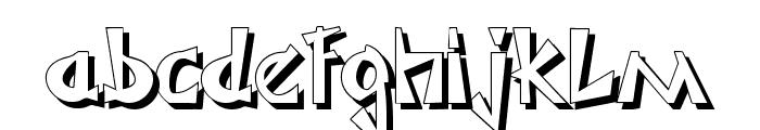 JaponesaShadow Font LOWERCASE