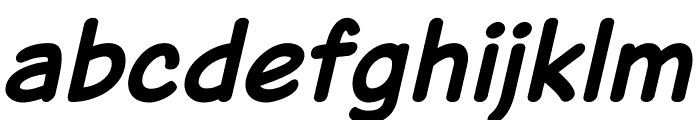 Jarble Bold Italic Font LOWERCASE