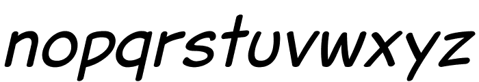 Jarble Italic Font LOWERCASE