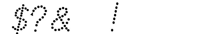Jardotty Font OTHER CHARS