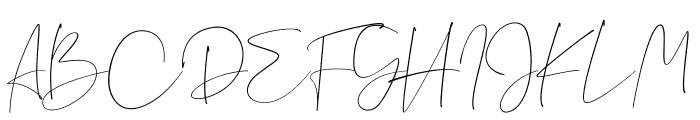 Jasmine Font UPPERCASE