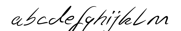 Jaspers Handwriting Regular Font LOWERCASE