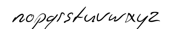 Jaspers Handwriting Font LOWERCASE