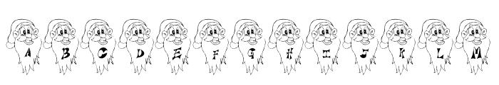 Jaunty Santa Font UPPERCASE