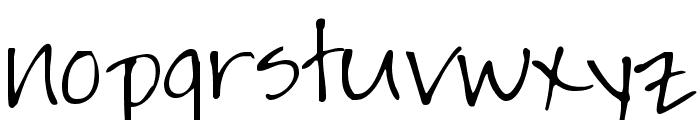 Jayne Print Hand Font LOWERCASE