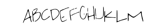 jackishandwriting Font UPPERCASE