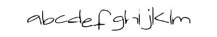 jackishandwriting Font LOWERCASE