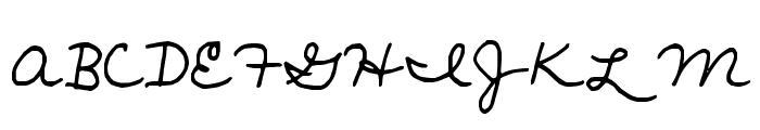 janellescript Font UPPERCASE