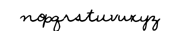 janellescript Font LOWERCASE