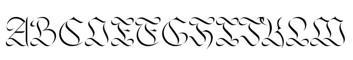Jabin Font UPPERCASE