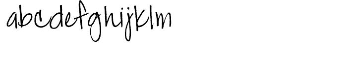 Jackie Sue BF Regular Font LOWERCASE