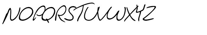 Jacques Handwriting Regular Font UPPERCASE