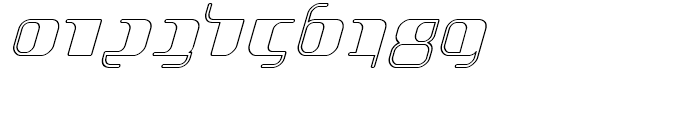 Jakone Outline Italic Font OTHER CHARS