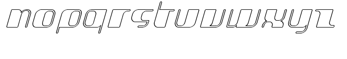 Jakone Outline Italic Font LOWERCASE