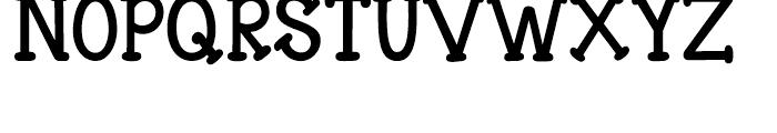 Janda Closer to Free Regular Font UPPERCASE