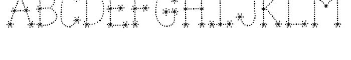 Janda Sparkle And Shine Regular Font UPPERCASE