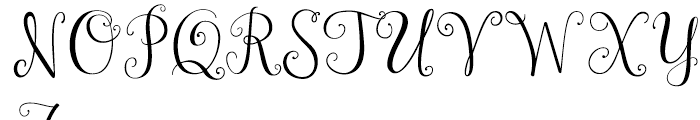 Janda Stylish Monogram Regular Font UPPERCASE