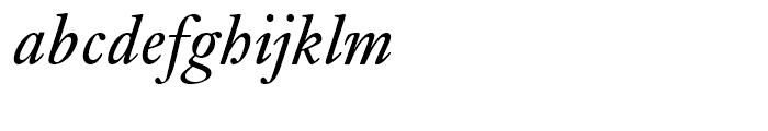 Janson Regular Italic Font LOWERCASE