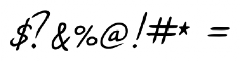 Jacques Handwriting Regular Font OTHER CHARS