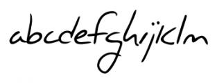 Jacques Handwriting Regular Font LOWERCASE