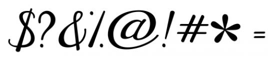 Janda Elegant Handwriting Regular Font OTHER CHARS