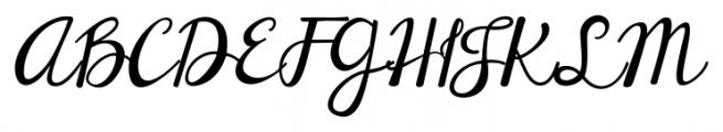 Janda Elegant Handwriting Regular Font UPPERCASE