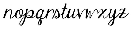 Janda Elegant Handwriting Regular Font LOWERCASE