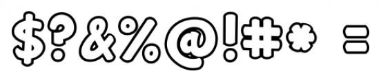 Janda Manatee  Bubble Font OTHER CHARS