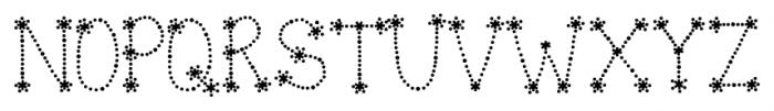Janda Sparkle and Shine Bold Font UPPERCASE