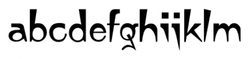 Japanette Regular Font LOWERCASE