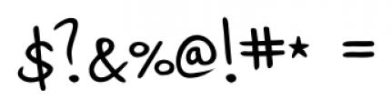 Jaro Handwriting Regular Font OTHER CHARS