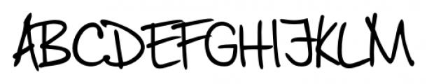 Jaro Handwriting Regular Font UPPERCASE