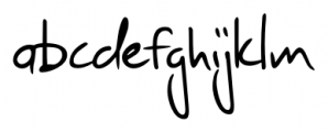 Jaro Handwriting Regular Font LOWERCASE