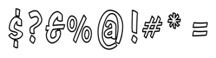 Java Jive  Condensed Outline  Font OTHER CHARS