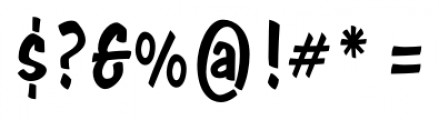 Java Jive  Condensed Font OTHER CHARS