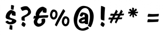 Java Jive  Regular Font OTHER CHARS