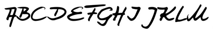 Jay Handwriting Pro Regular Font UPPERCASE