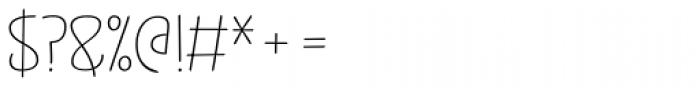 Jabana Alt Extended Thin Font OTHER CHARS