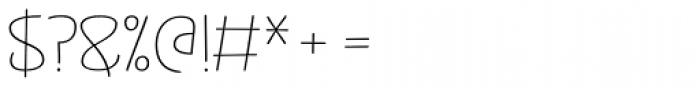 Jabana Alt ExtraExtended Thin Font OTHER CHARS