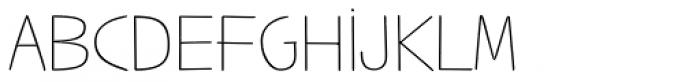 Jabana Alt ExtraExtended Thin Font UPPERCASE