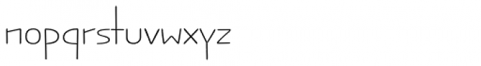 Jabana Alt ExtraExtended Thin Font LOWERCASE