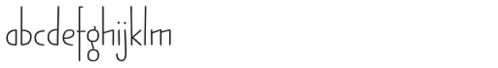 Jabana Alt ExtraWide Thin Font LOWERCASE