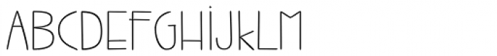 Jabana Extended Thin Font UPPERCASE