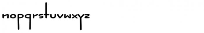 Jabana ExtraWide Bold Font LOWERCASE