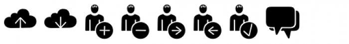 Jabana Extras App Icons Black Font LOWERCASE