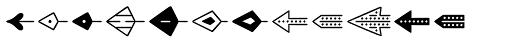 Jabana Extras Arrows Font UPPERCASE