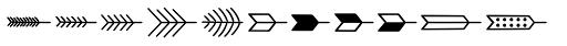 Jabana Extras Arrows Font LOWERCASE