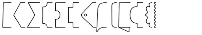 Jabana Extras Banner A Font LOWERCASE