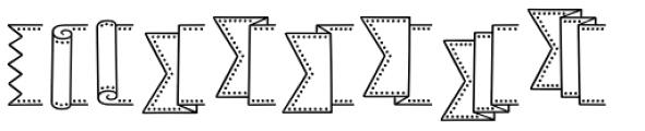 Jabana Extras Banner B Font LOWERCASE