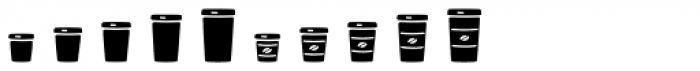Jabana Extras Cafe Bar Icons Black Font OTHER CHARS